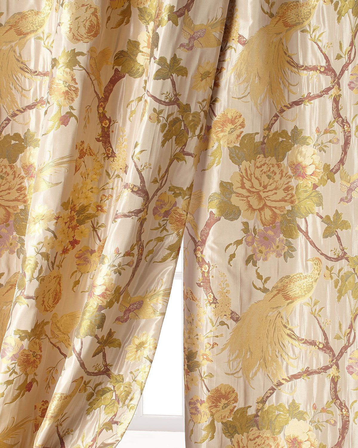 96 Quot L Fanciful Pheasant Curtain Brown Gold Sweet Dreams