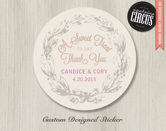 Custom Stickers Wedding