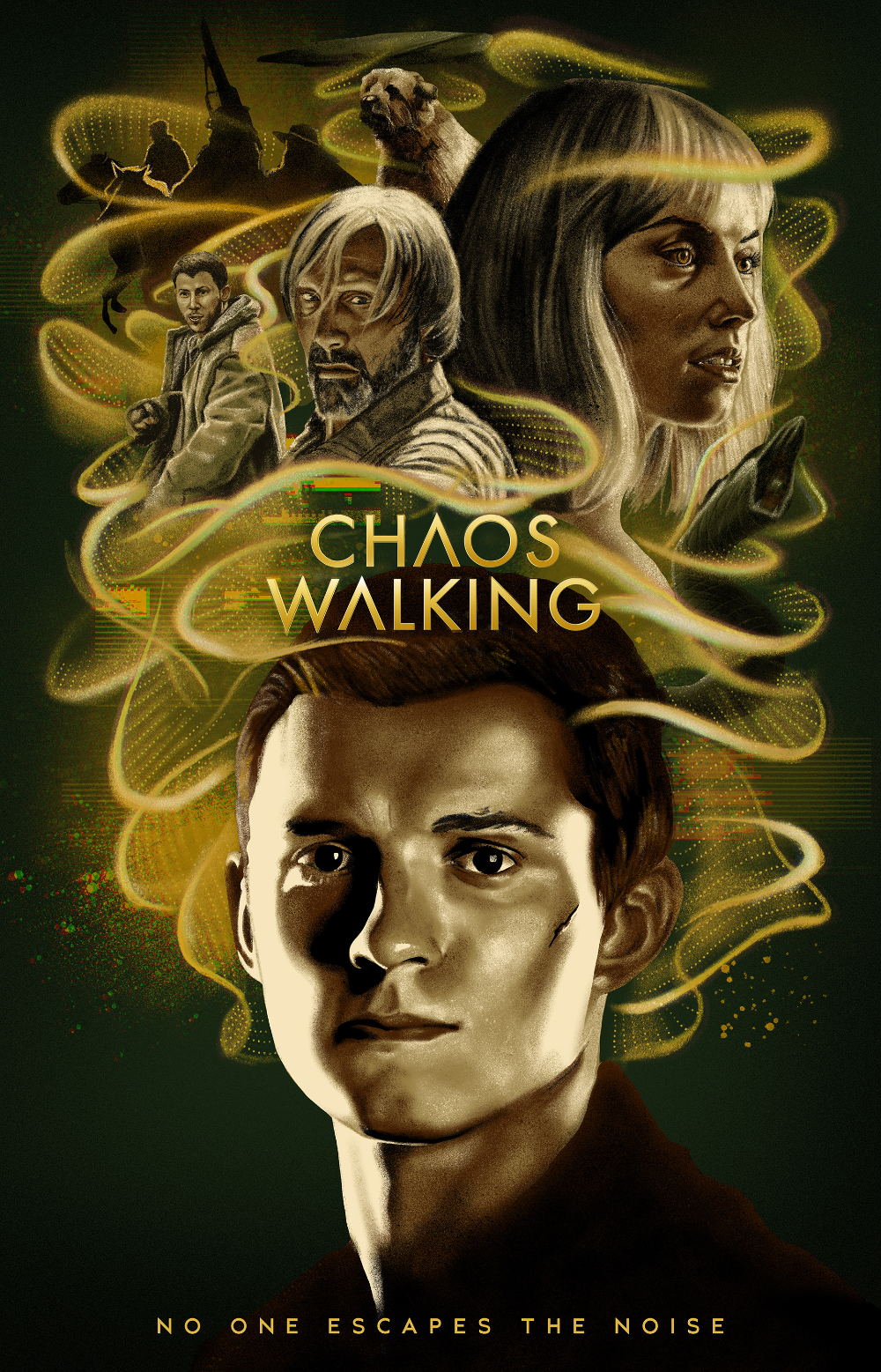 Chaos Walking - Alternate Poster on Behance in 2021   Chaos walking,  Holland art, Chaos movie