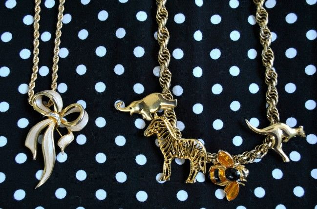 #Vintage #Brooch #Necklace #DIY by FashionParkway.com