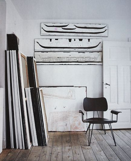 Great Floor. Chair. Canvases.