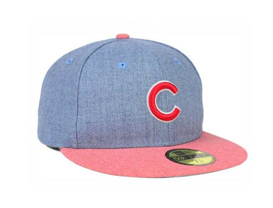 6711bb71 Chicago Cubs Heather Action 59Fifty Fitted Cap by NEW ERA x MLB ...