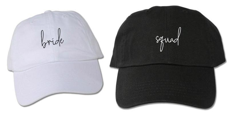 Bridal Party Caps Personalized Bridesmaid Hats Bride Squad Hats Embroidered Cap Party Favors Bachelorette Party Hats Bridesmaid Gift