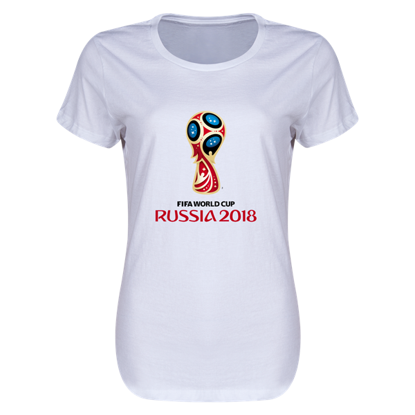 2018 FIFA World Cup Russia™ Event Emblem Womens T-Shirt (White ... 54870673ae
