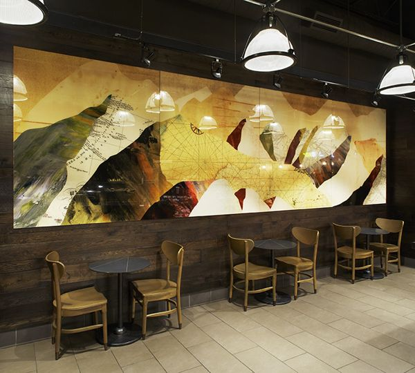 Mountain Mural - Starbucks by Jaymie McAmmond, via Behance   Around ...