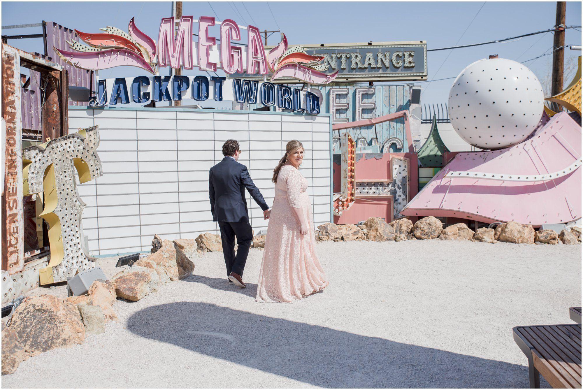 Neon Museum Las Vegas Las Vegas Wedding Photographer Nevada