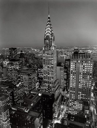 New York New York Chrysler Building At Night By Henri Silberman