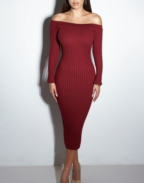 a9655224d8ca Women Winter Sexy red long sleeve maxi club bodycon bandage Party sweater  Dress #ouzhimei #