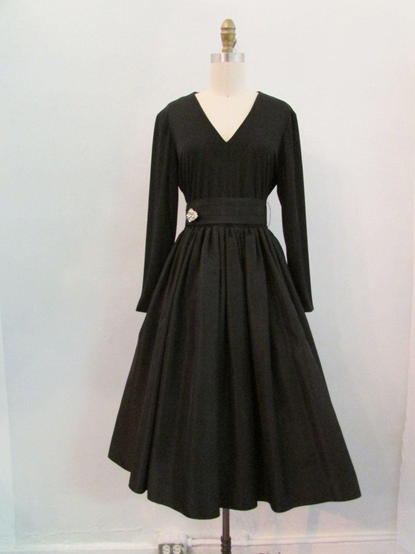 1960s Black Cocktail Dress Vintage 60s Noir Black Cocktail Etsy Black Cocktail Dress Cocktail Dress Vintage Dresses [ 1500 x 1125 Pixel ]