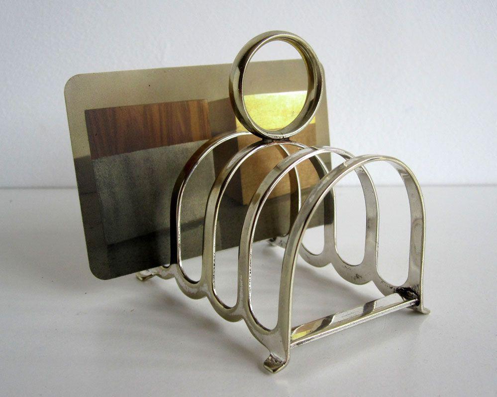 Vintage Tiny Silver Plated Toast Rack Epns Letter Rack Etsy Silver Plate Vintage Silver Plating