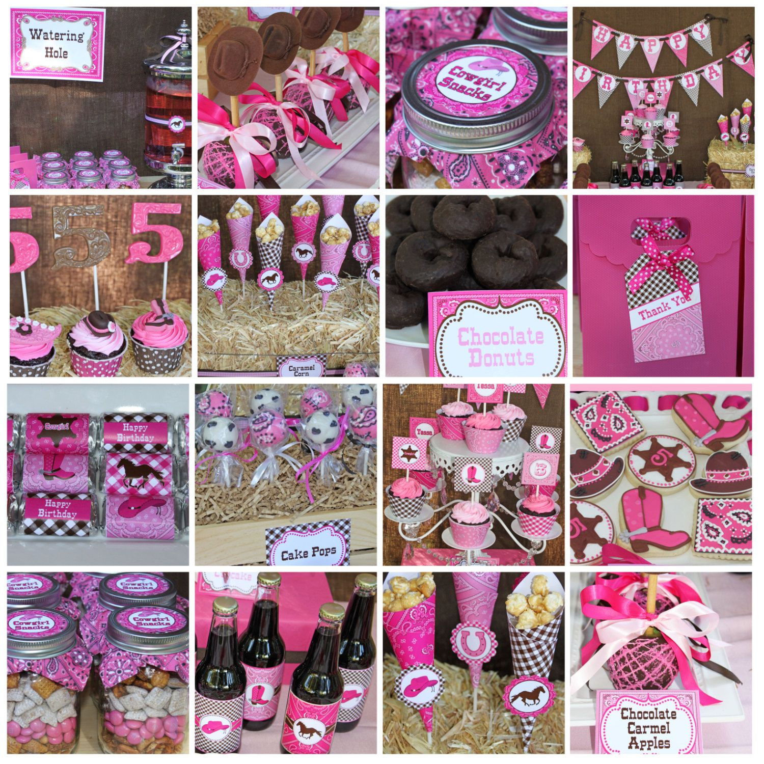 Cowgirl Birthday Party Decorations Printable Deluxe Package
