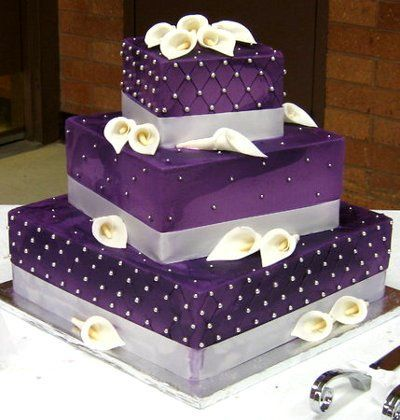 Purple Wedding Cake Ideas Our Union Pinterest Purple Themed