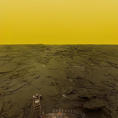 Surface of Venus, imaged by Venera. | Space and astronomy ...