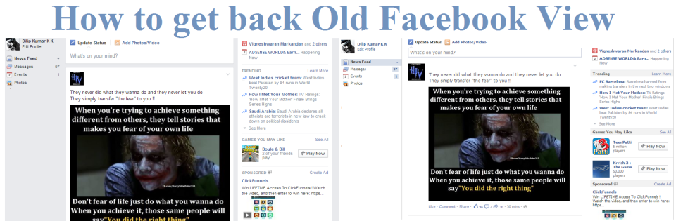 How To Get The Old Version Of Facebook Back