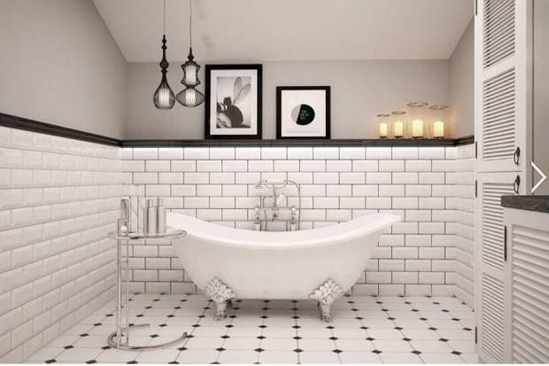 Znalezione Obrazy Dla Zapytania Kafelki łazienkowe Czarno