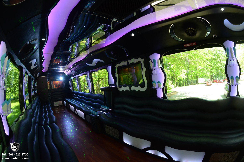 50 passenger nj party bus interior