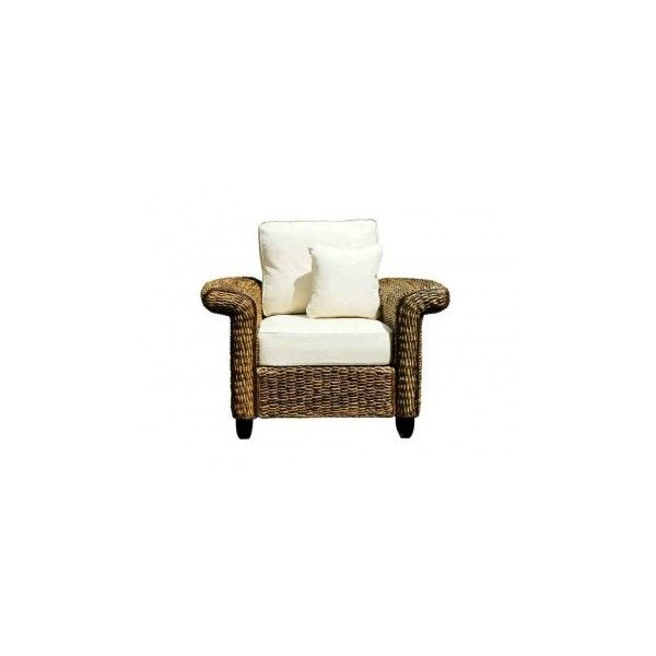 New York Abaca Armchair (¥38,475) ❤ liked on Polyvore