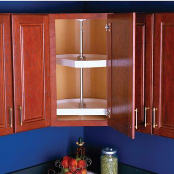 Perfect Size For Top Cabinet D Shaped Lazy Susan Upper Corner Pantry Cabinets By Knape From Kitchensource