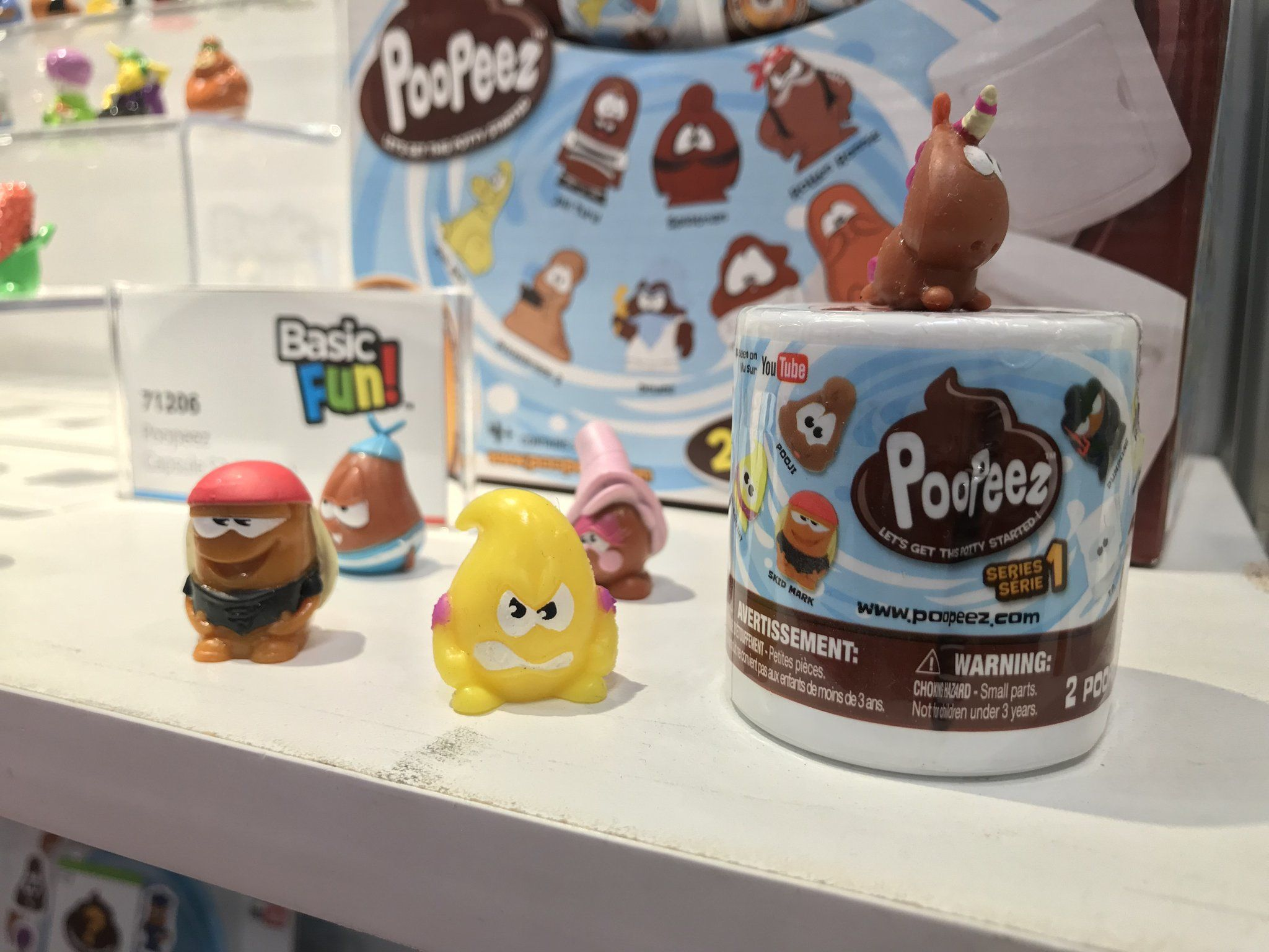 Poopeez Series 1 Capsules Squishy Collectible Toy 4 Pack
