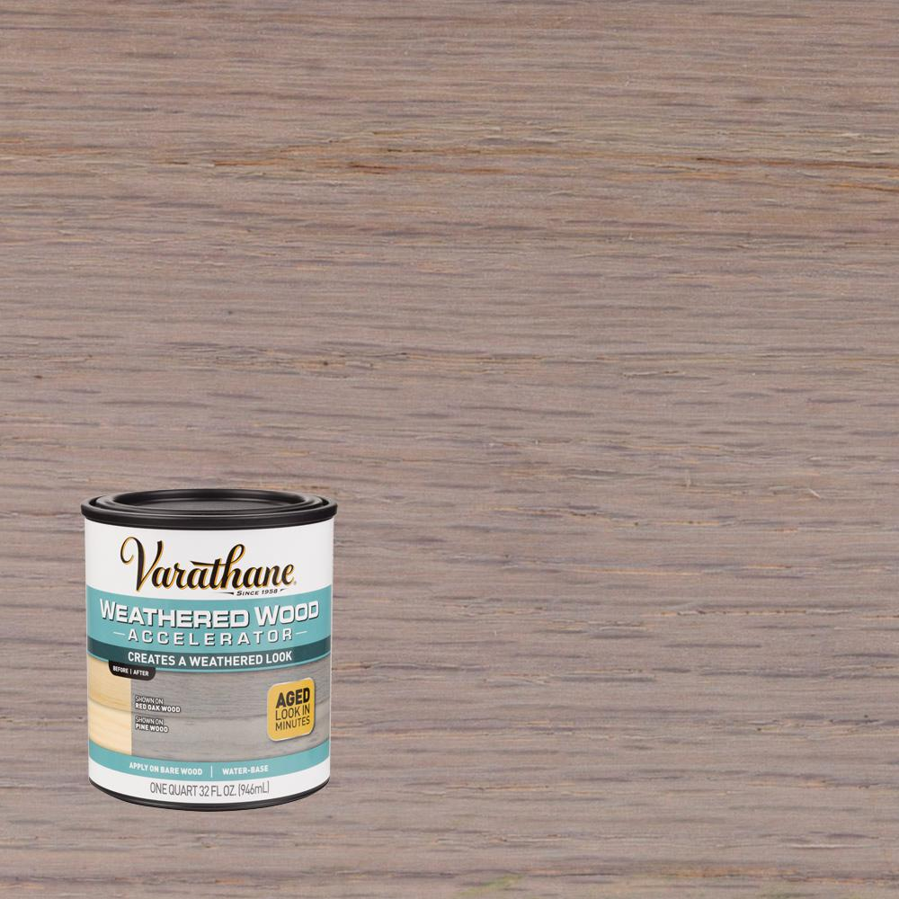 Varathane 1 Qt Weathered Wood Interior Accelerator 2 Pack 313835 The Home Depot Staining Wood Interior Wood Stain Weathered Wood
