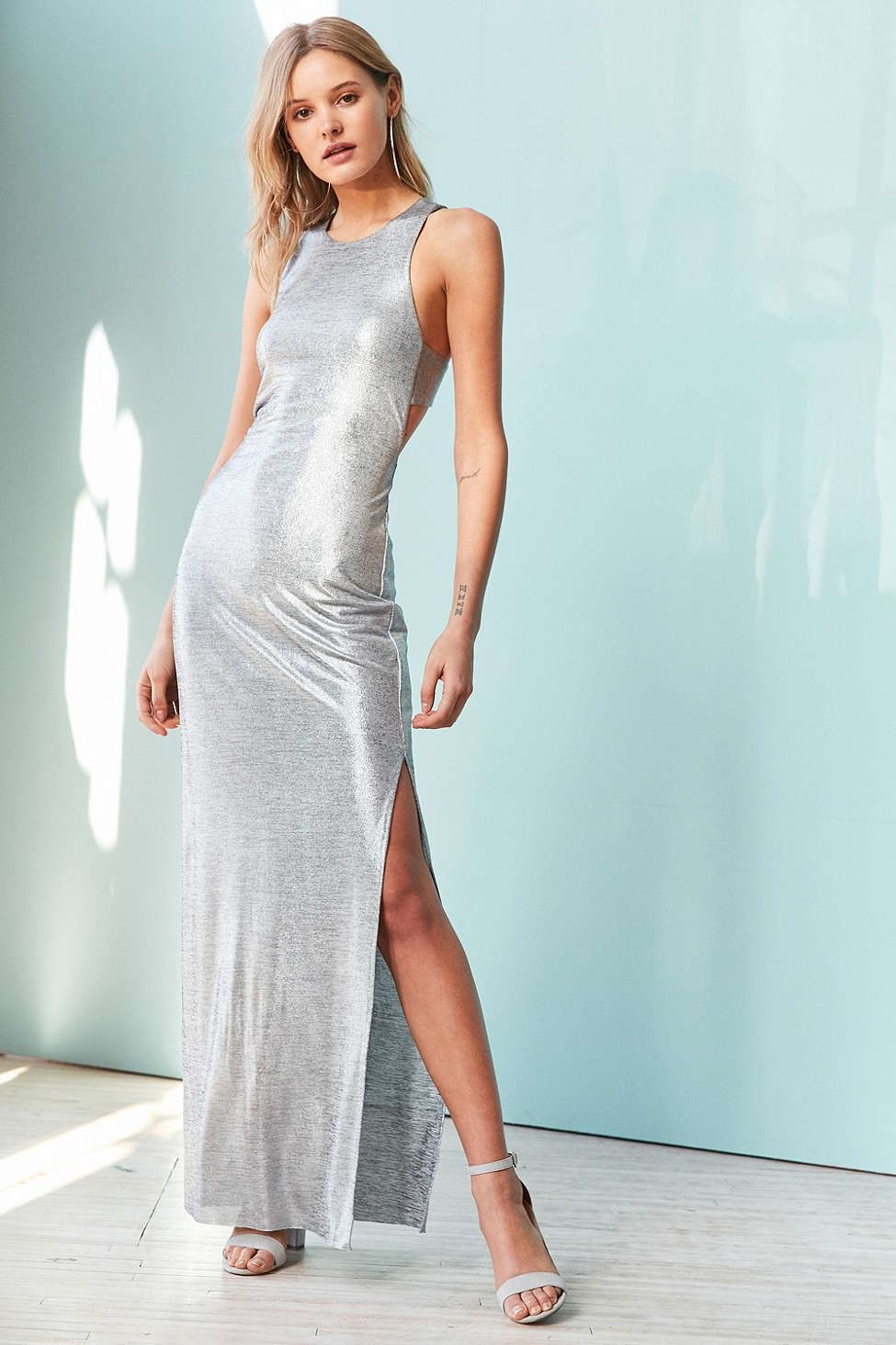 Silence Noise Stingray Metallic Maxi Dress - Urban Outfitters | New ...