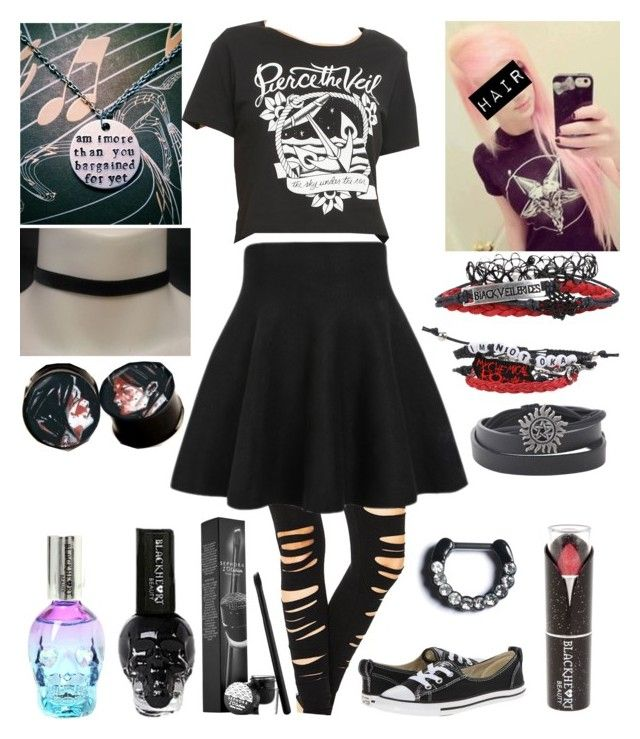"""Style #331"" by katlanacross ❤ liked on Polyvore featuring Converse, Sephora Collection and Halftone Bodyworks"