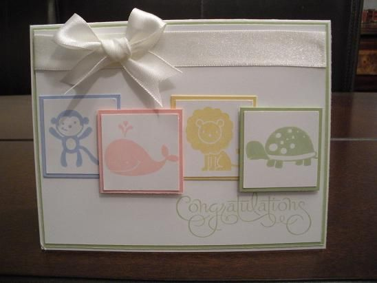 Fox and Friends Baby Card by mugsie - Cards and Paper Crafts at Splitcoaststampers