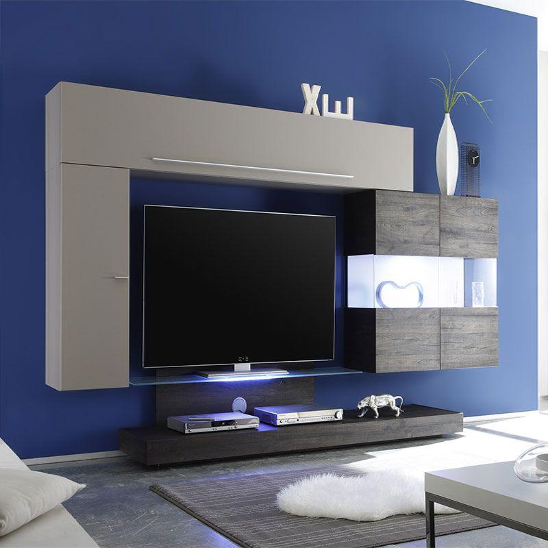 ensemble meuble tv taupe laqu et weng moderne vera ensemble de meubles tv pinterest. Black Bedroom Furniture Sets. Home Design Ideas