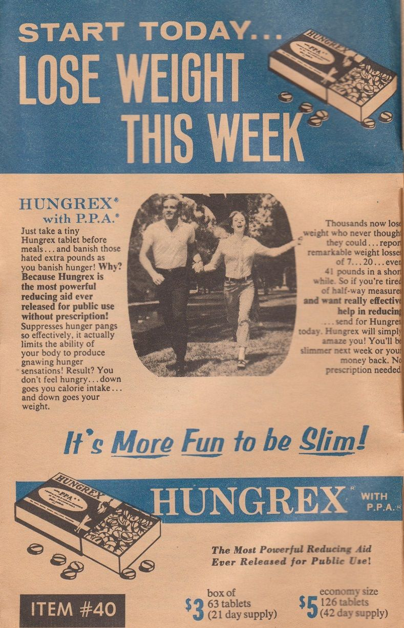 Hungrex Tablets It S More Fun To Be Slim Circa 1970s Diet