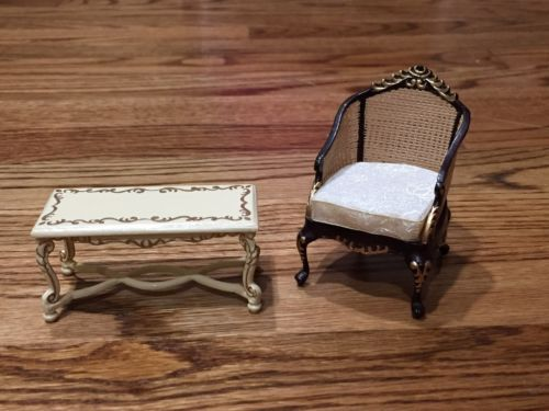 Dollhouse Miniature Artisan Handpainted Bespaq Furniture-ChairCoffee Table https://t.co/896S2npsBJ https://t.co/g0sJr0ipHO