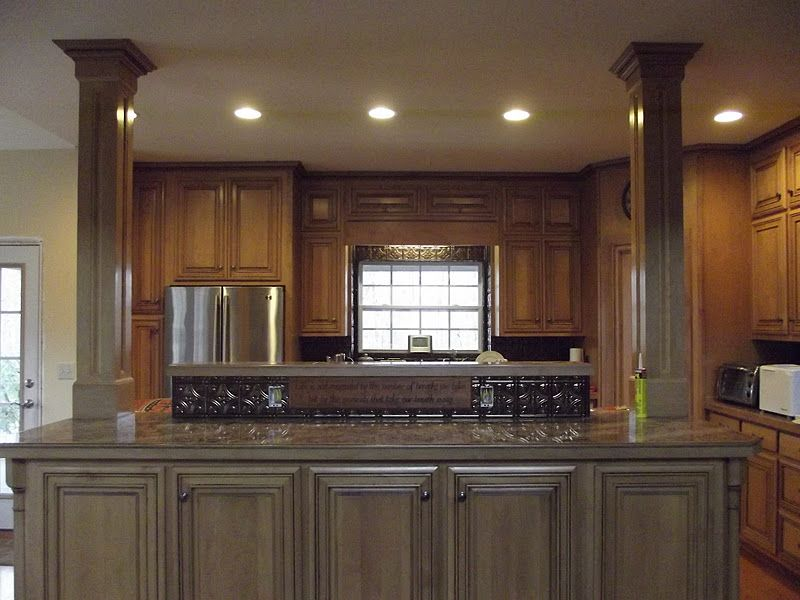 Kitchen Island With Columns kitchen island with columns and double island | kitchen