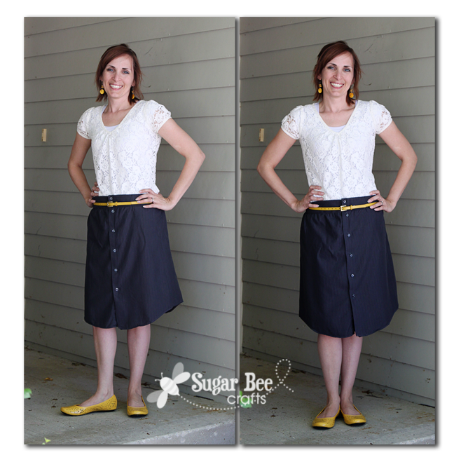 Men's Shirt to Skirt - Refashion how-to....  this skirt is pretty simple to make an adds a little dress-up to the summer...