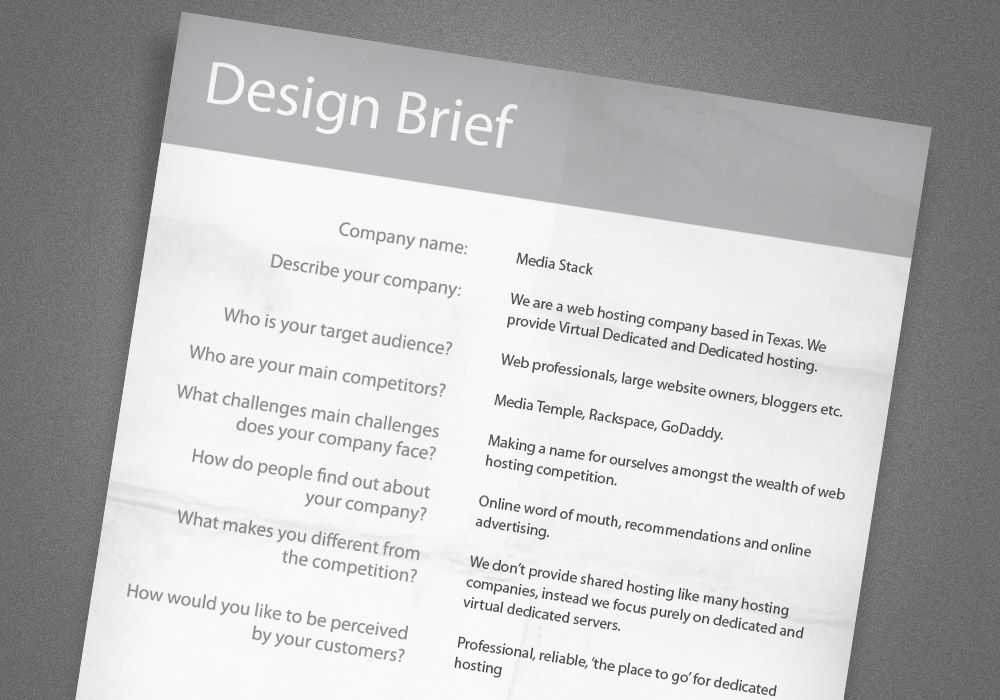 A Guide to Creating Professional Quality Logo Designs Logos - project brief template
