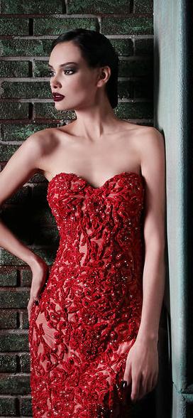 Rami Kadi - red couture - 2013-2014