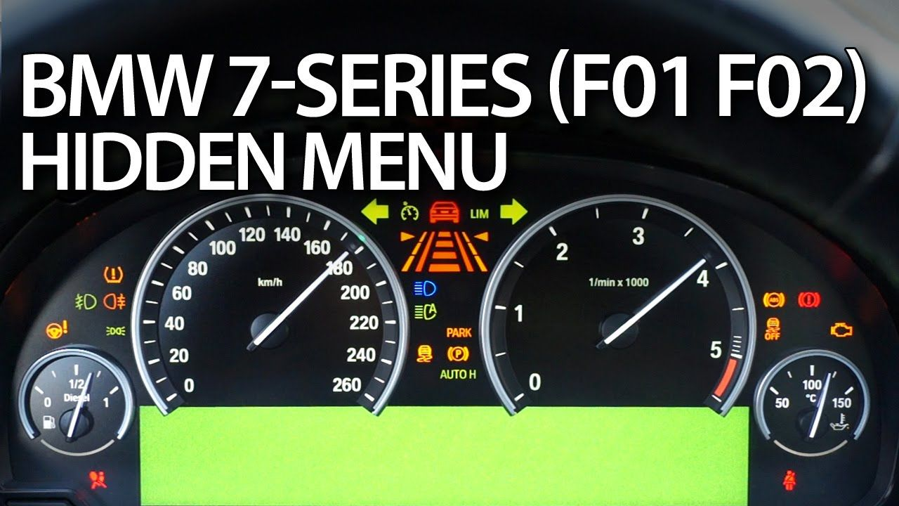 Bmw 7 Series Hiddenmenu Instrument Cluster Test Mode Cars Daignostics Bmwf01 Bmwf02 Bmw Car Maintenance Bmw 7 Series