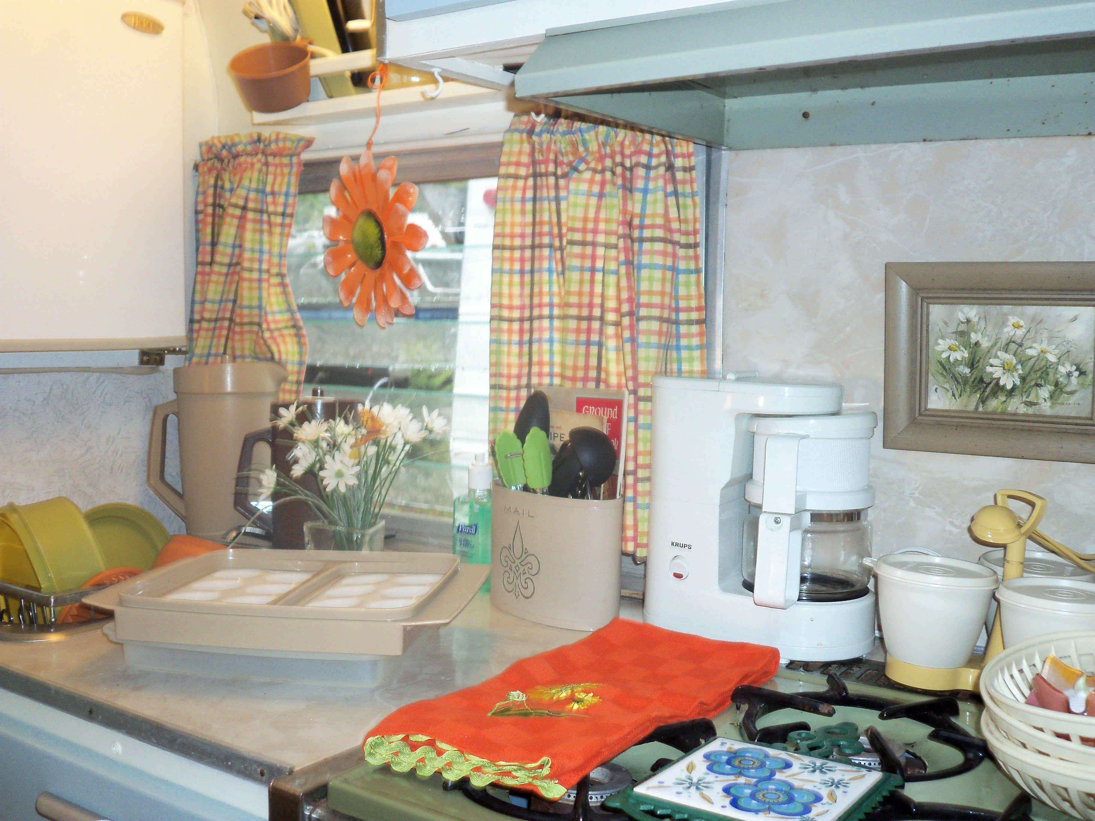 Kitchen | Our 1970 Shasta Compact-Wanda | Vintage travel ...