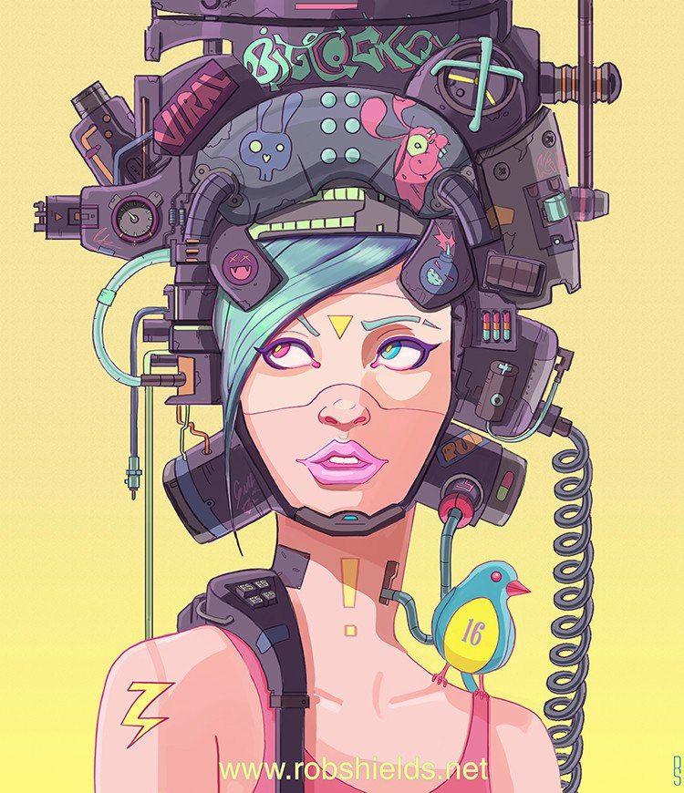 Мир 3D» - в 2019 г. | Киберпанк, Иллюстрации и Иллюстрации арт Оп Арт Живопись