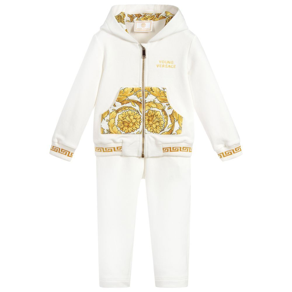 92b06d8b Girls Ivory BAROQUE Tracksuit for Girl by Young Versace. Discover ...