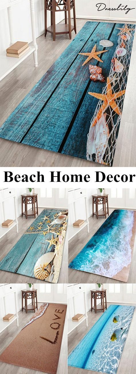Up To 70 Off Free Shipping Worldwide Large Size Starfish Shell Coral Fleece Bath Rug Product Description Exquisite Beach Room Beach House Decor Beach Rugs