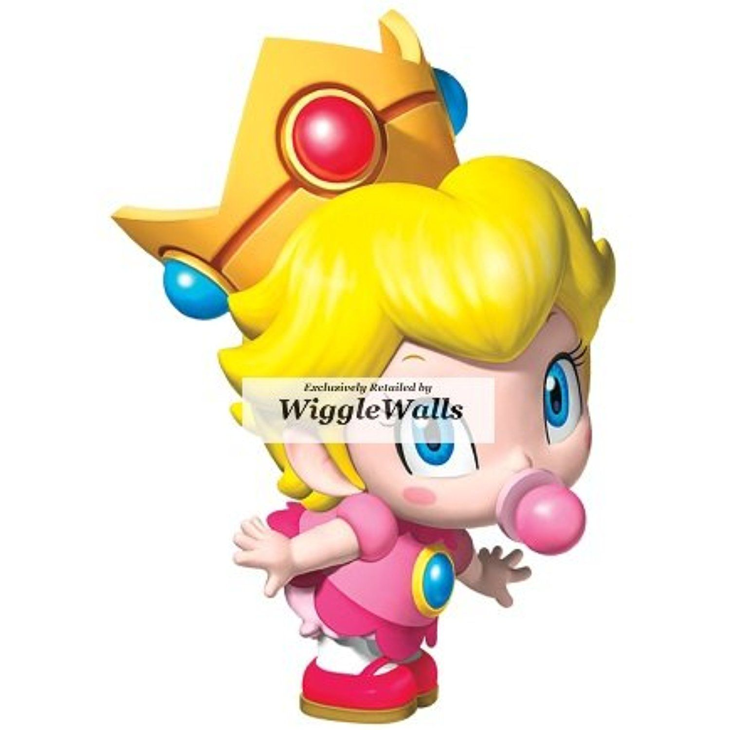 3 Inch Little Baby Princess Peach Super Mario Removable Wall Decal ...