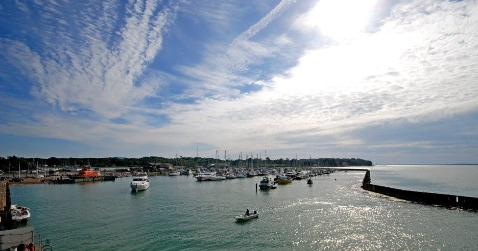 Port of the Week - Yarmouth Harbour on the Isle of Wight. Photo credit to #IslandCottageHolidays