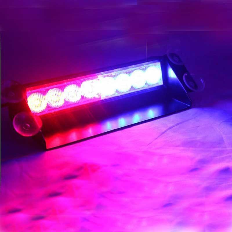 8led Car Deck Truck Dash Strobe Flash Warning Light Emergency 12v Warning Lights Strobe Lights Led Grilles