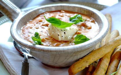 Classic Tomato Soup with Barley & Basil recipe - Think the yoghurt will give this a unique taste