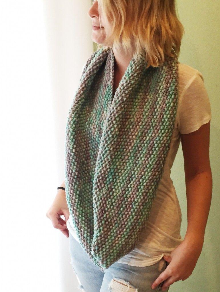 Seed Cowl Knitting Pattern | Knitting | Pinterest | Seed stitch ...