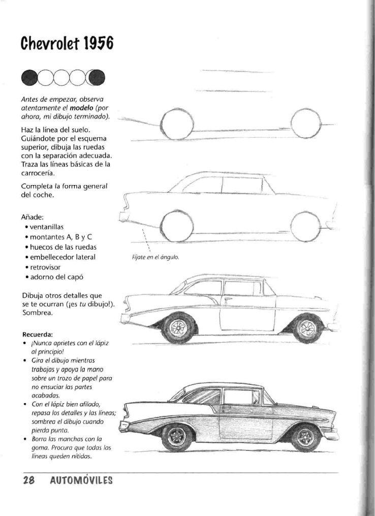 Como Dibujar Autos Paso A Paso Obras De Arte Drawings Sketches