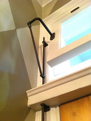 Salvaged Transom Window Lift To Make Our Transom Window