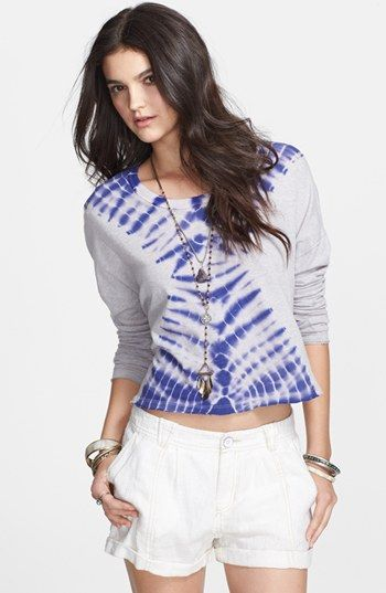 Free People 'Sundown' Tie Dye Cotton Blend Top available at #Nordstrom