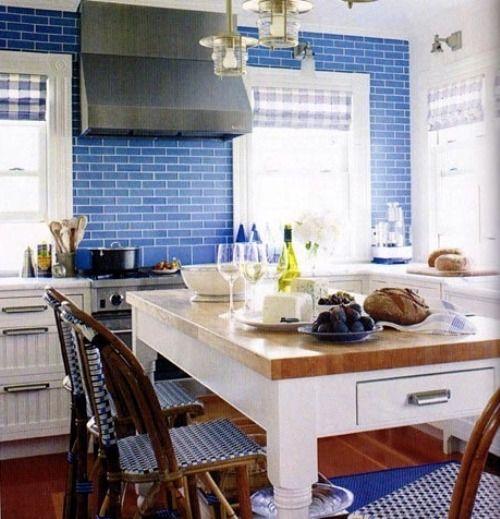 Blue Tile Gt Gt Dining Rooms