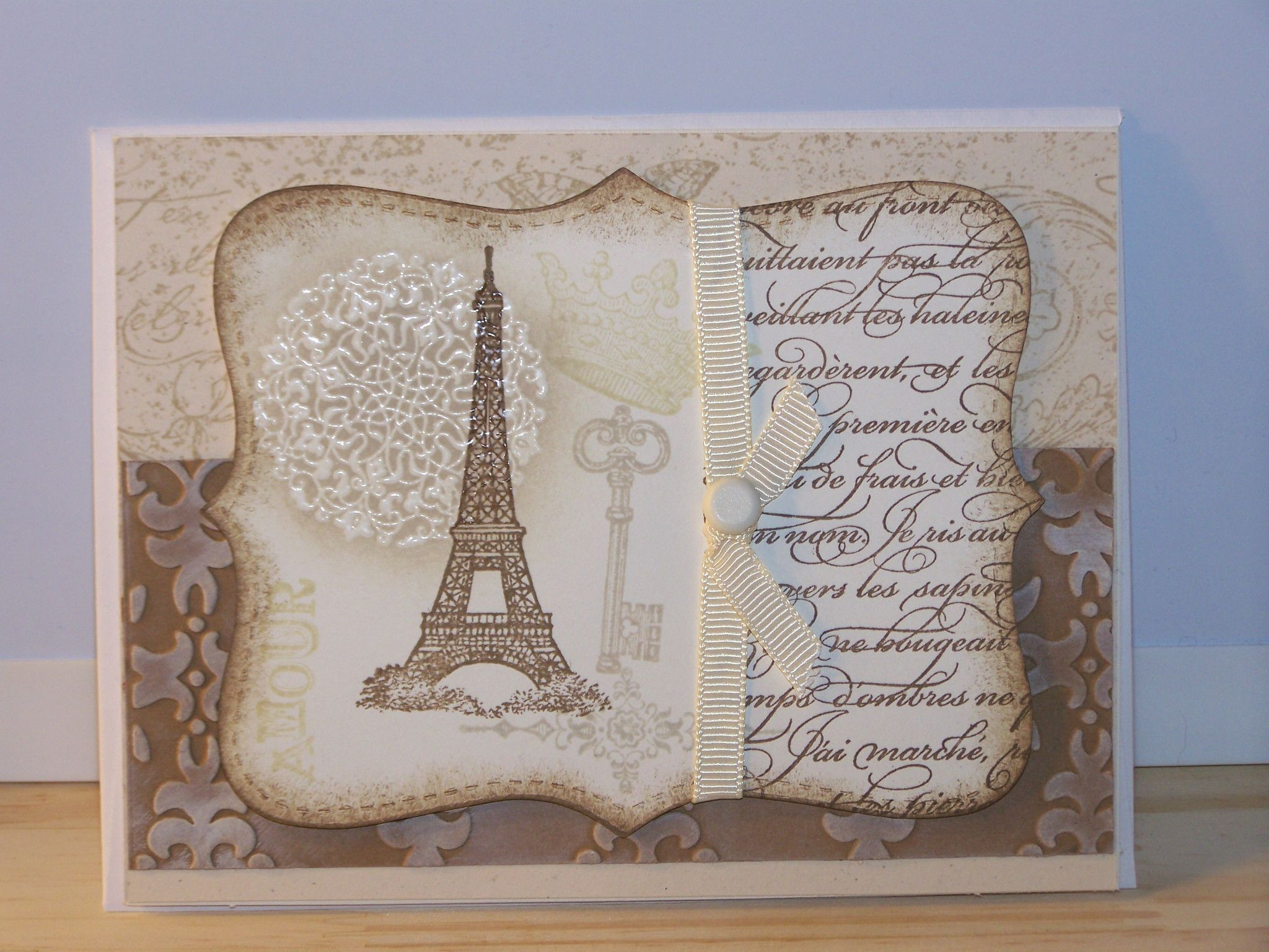 any occasion card eiffel tower greeting cards pinterest cartes carte anniversaire et. Black Bedroom Furniture Sets. Home Design Ideas
