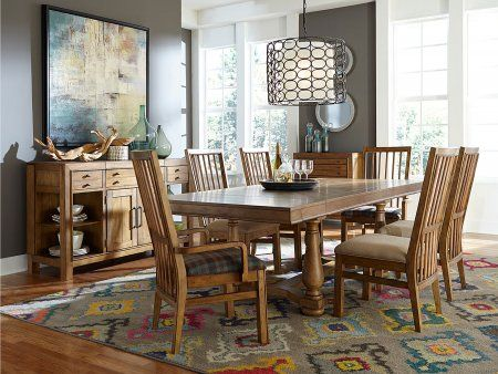 Bethany Square 4930Tts2Ac4Sc 8Piece Dining Room Set With Trestle Delectable 8 Piece Dining Room Set Inspiration